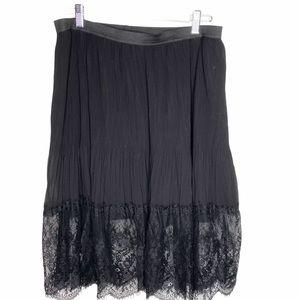 Love & Legend Pleats & lace skirt